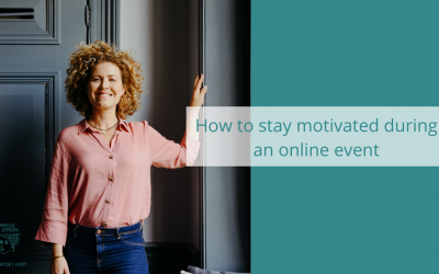 Online Events: How to stay motivated during an online event