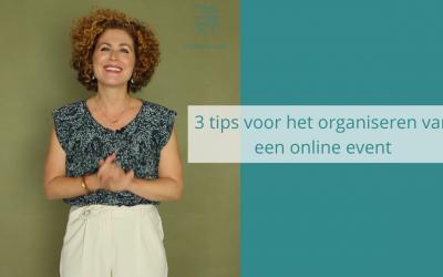 3 Tips voor het organiseren van een online event